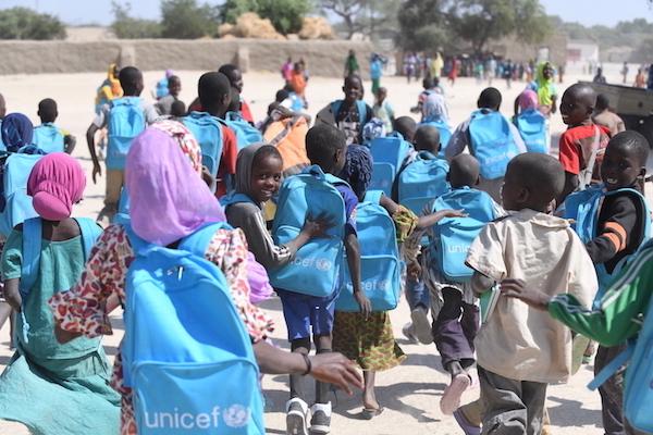 Unicef ondersteun de scholing van 14.000 kinderen.