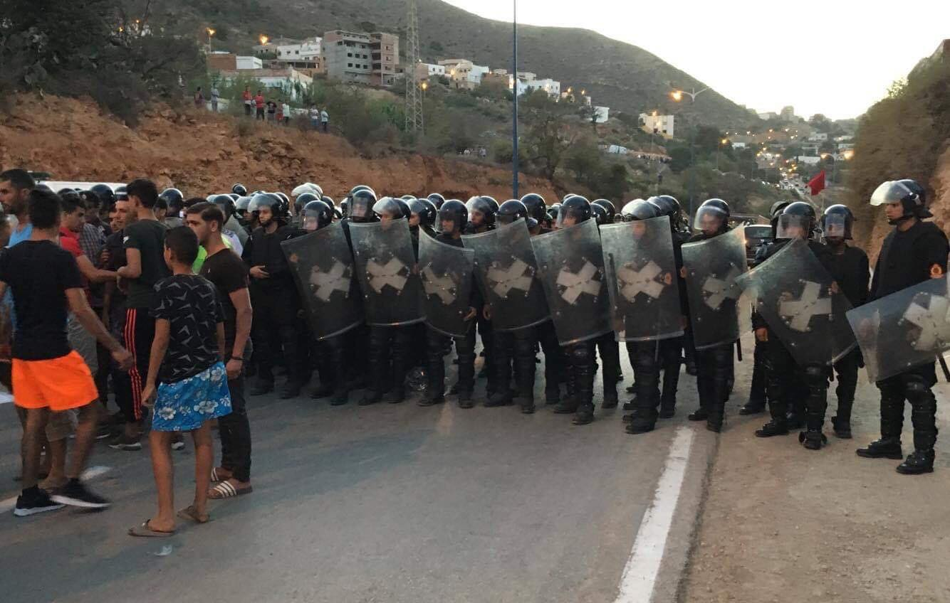 protesten in het Rif gebied