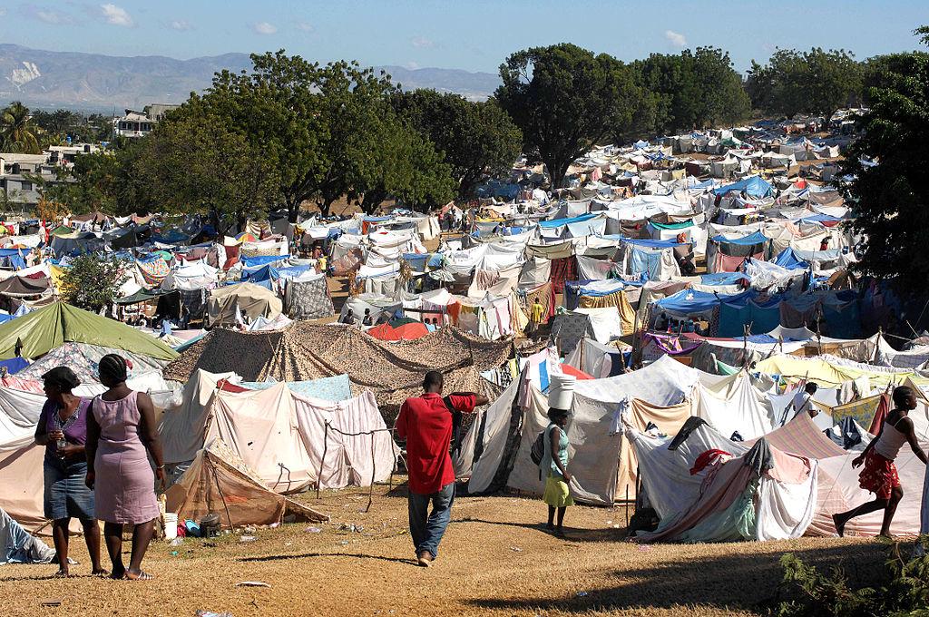 Een tentenkamp in Port au Prince, hoofdstad van Haïti