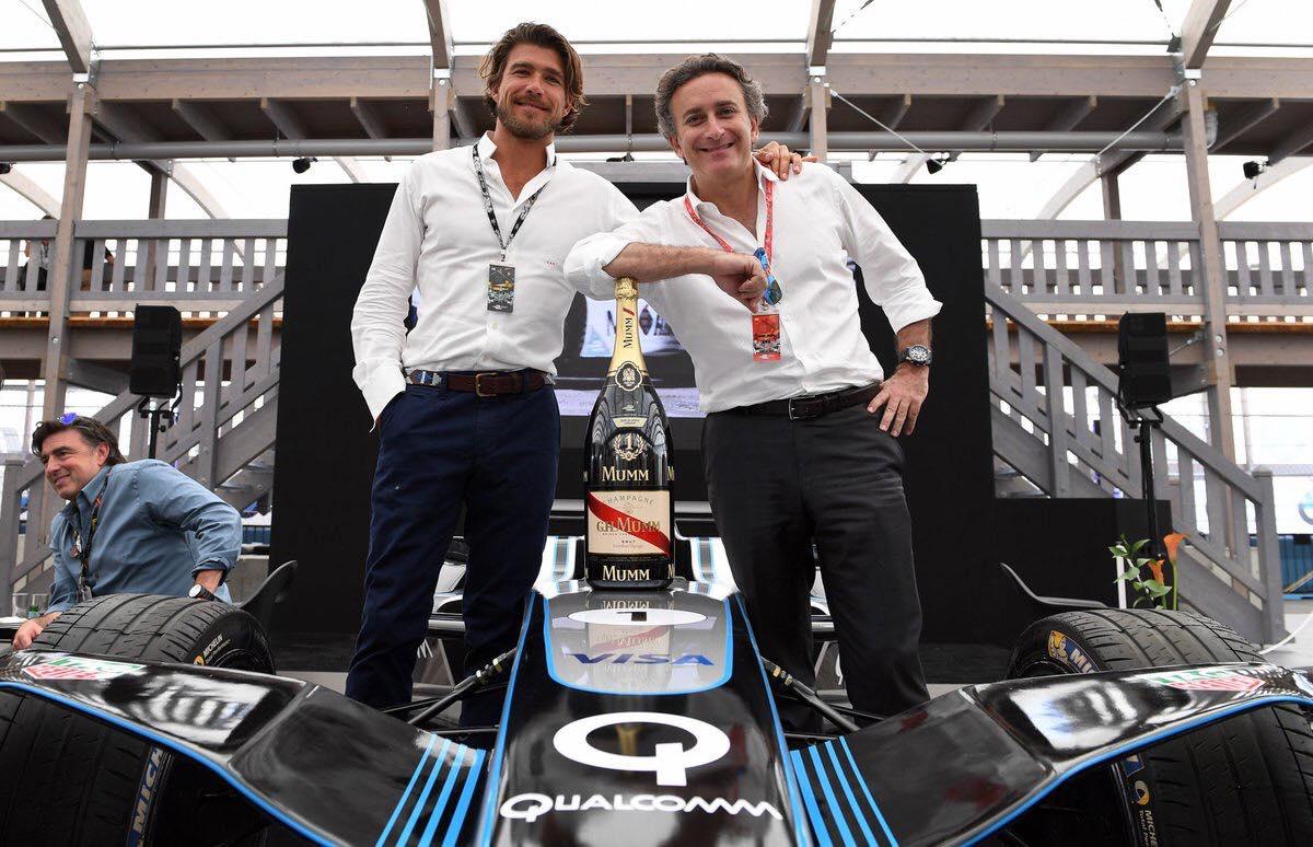 Carl Gurdjian (links) met Alejandro Agag, de bedenker van de Formule E