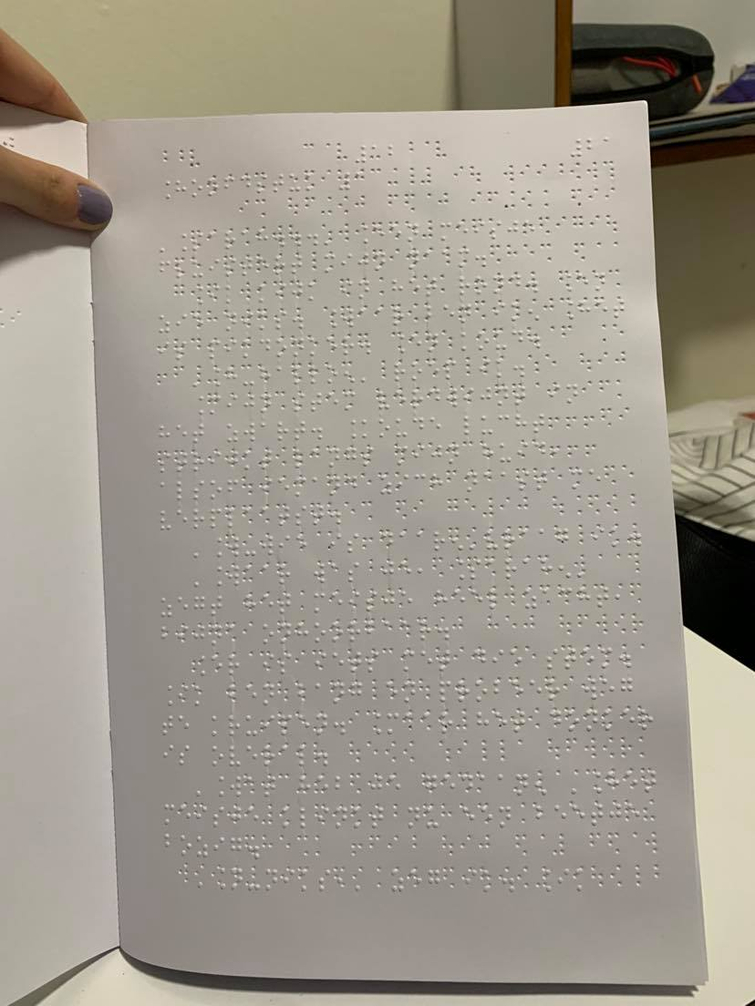 pagina met braille