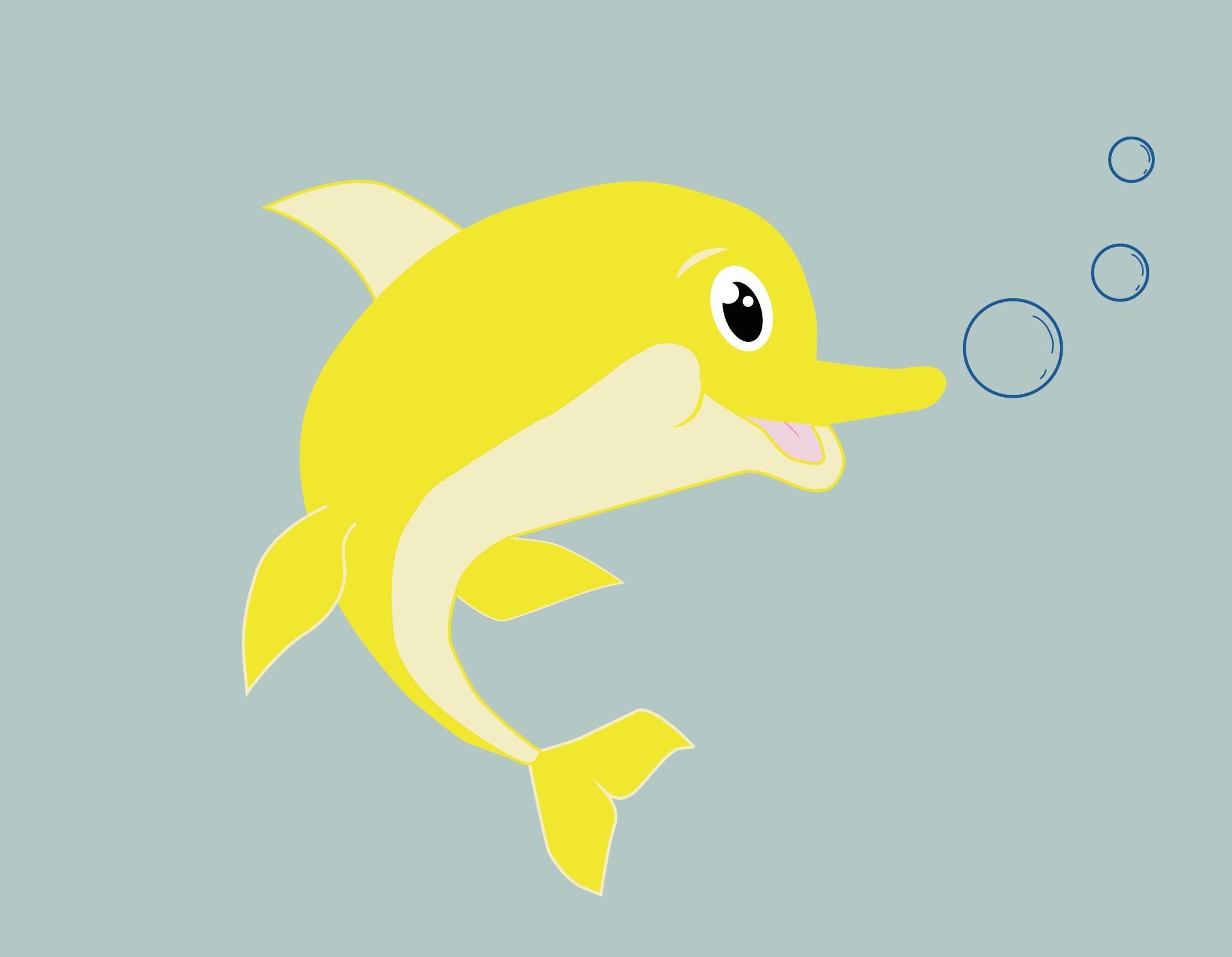 Novagele levenslustige dolfijn.