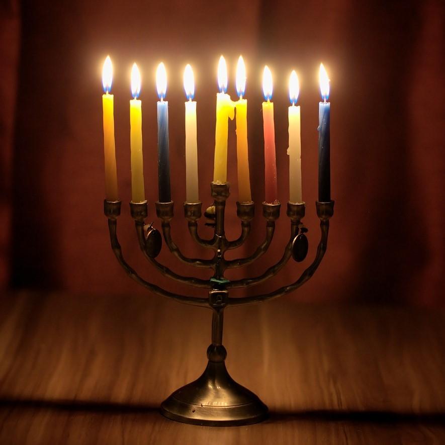 De menora, een van de oudste symbolen van het jodendom.