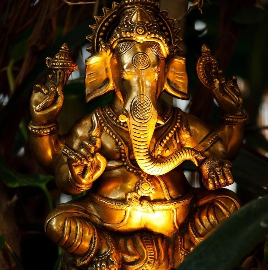 Ganesha, de hindoeïstische god van kennis en wijsheid.