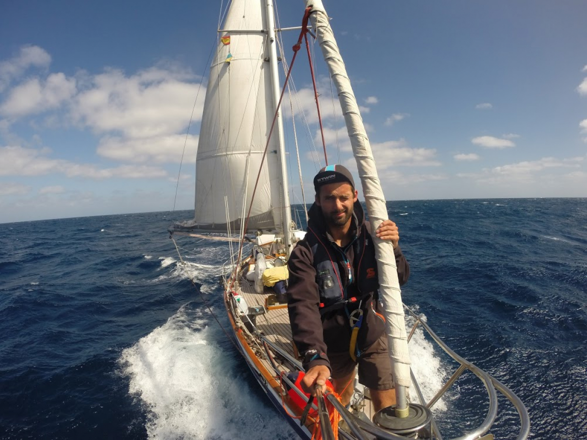 Olivier Van Herck werd zeeziek tijdens de oversteek van de Atlantische Oceaan.