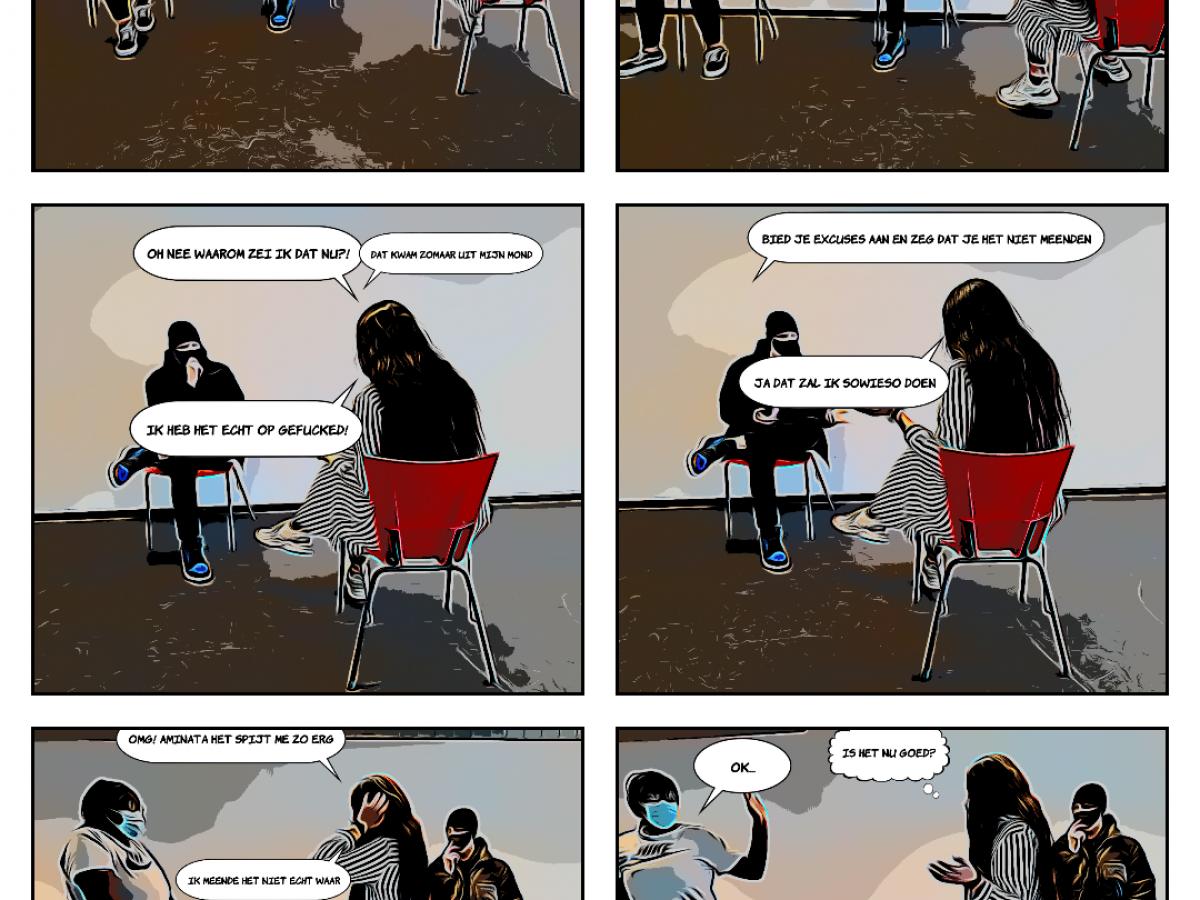Aminata's comic over racisme
