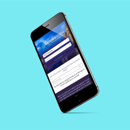 Venuesonline homepage mobile