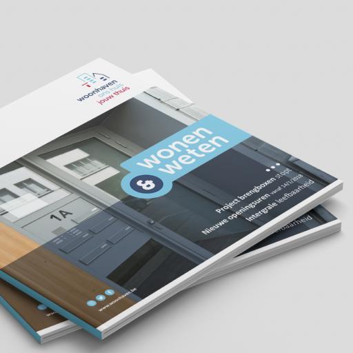 Rebranding Woonhaven: magazine