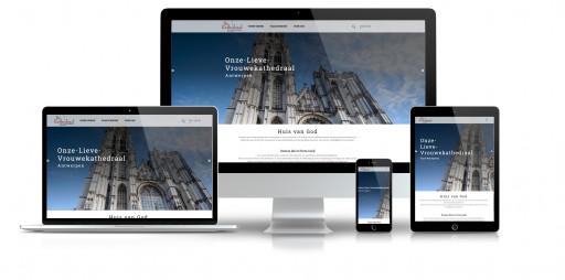 Website de Kathedraal - responsief