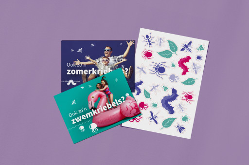 Extracalm postkaartencampagne