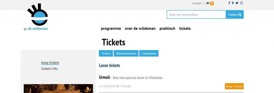 integratie Ticketmatic 3 in de website GC De Wildeman