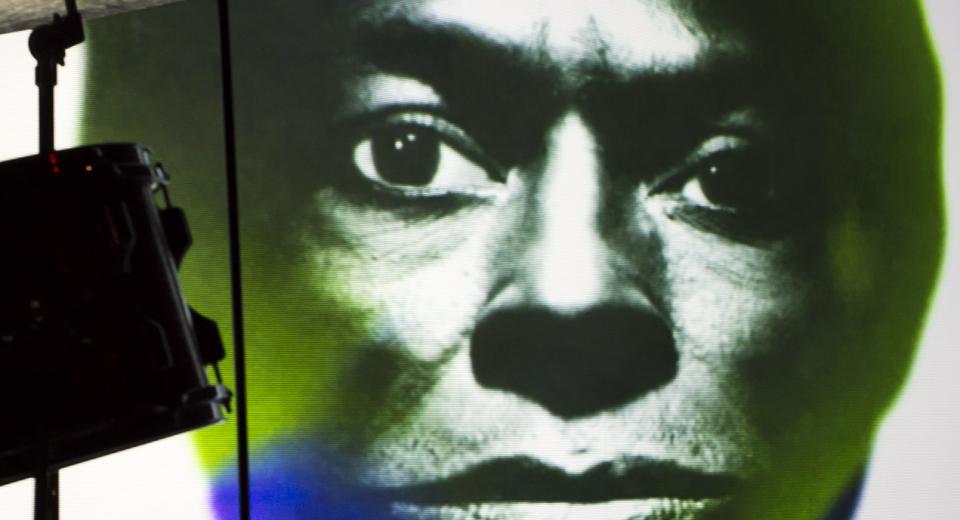 Beeld uit voorstelling Mile(s)tones over Miles Davis van Zonzo Compagnie