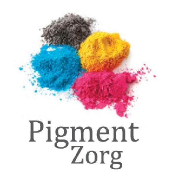Het logo van de website www.pigmentzorg.be