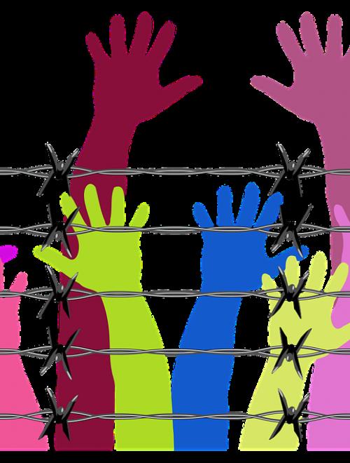 prikkeldraadoefening-gekleurde-handen prikkeldraad