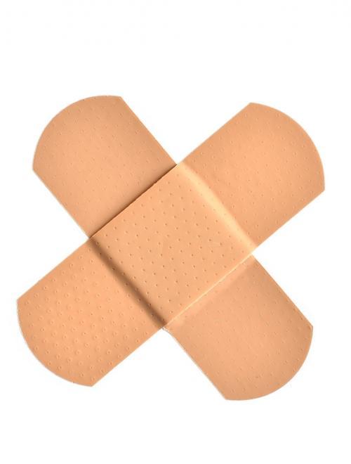 pleisters-in-een-kruisvorm