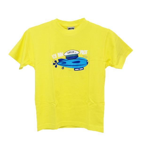 """""""Ich bin Zeppelin Pilot""""-Shirt Gelb"""