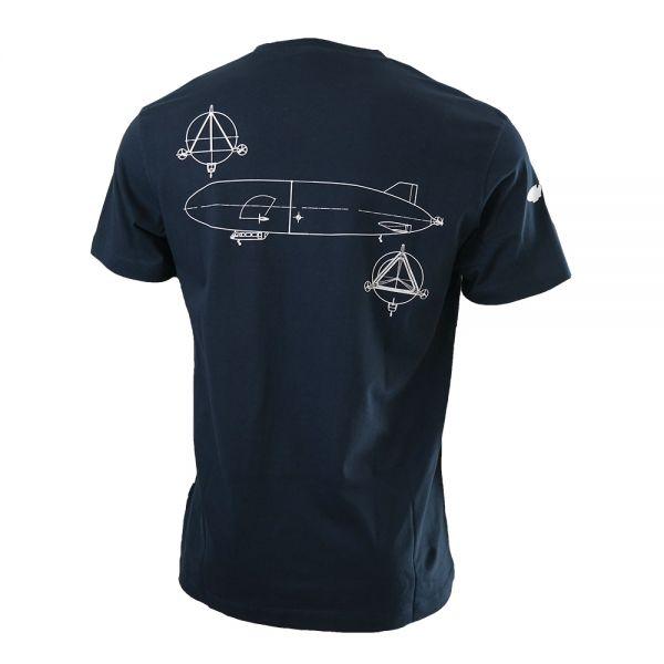"""Zeppelin NT T-Shirt blau """"technische Zeichnung"""""""