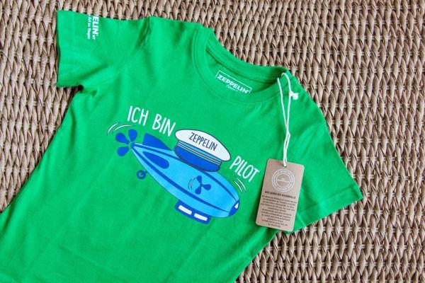 """""""Ich bin Zeppelin Pilot"""" T-Shirt Grün"""