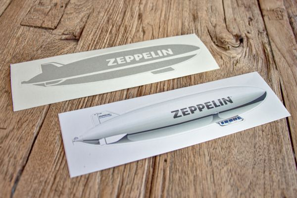 Zeppelin-Aufkleber Set