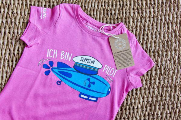 """""""Ich bin Zeppelin Pilot""""-Shirt Pink"""