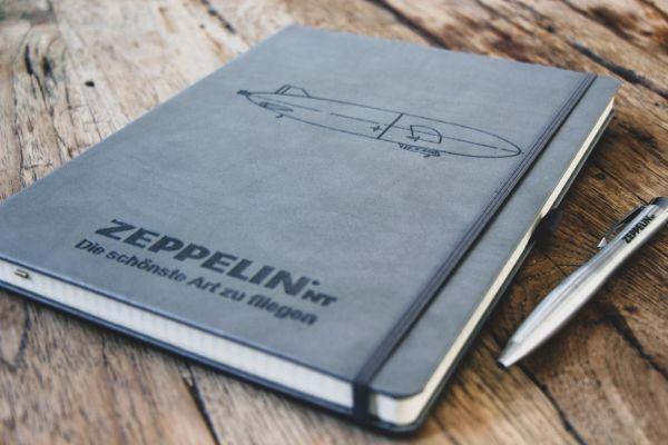 """Notizbuch groß grau """"Skyline"""""""