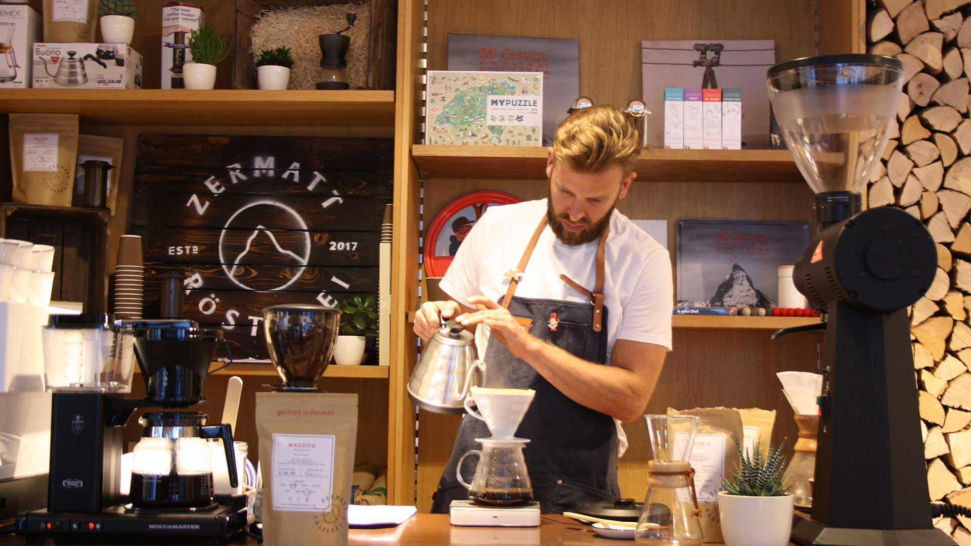 Coffee with Michelin roots by Silvia Stroie for Zermatt Tourism